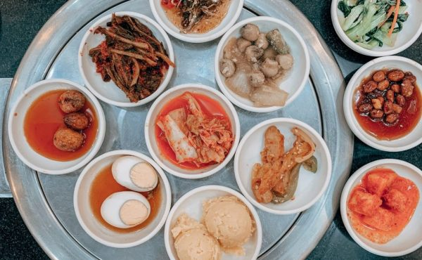 selection of korean dishes on table