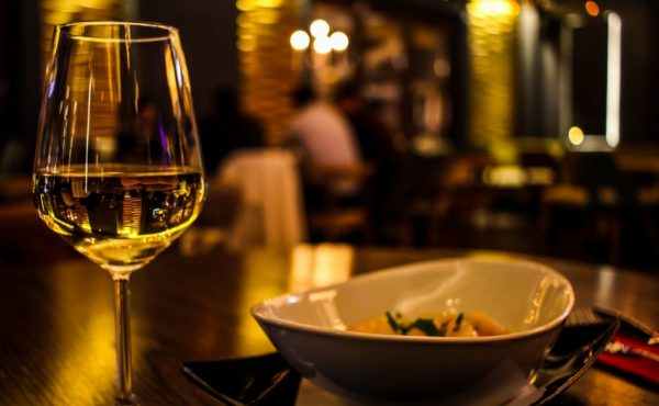 food with white wine